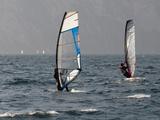 Windsurfers at Torbole Del Garda  Lake Garda  Trentino-Alto Adige  Italian Lakes  Italy  Europe