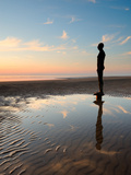 Antony Gormley Sculpture  Another Place  Crosby Beach  Merseyside  England  United Kingdom  Europe