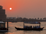 Abra Water Taxi  Dubai Creek at Sunset  Bur Dubai  Dubai  United Arab Emirates  Middle East