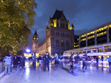Christmas Ice Skating Rink Outside the Natural History Museum  Kensington  London  England  United