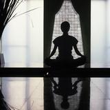 Woman Meditating  Bangkok  Thailand  Southeast Asia  Asia