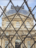 The Louvre Viewed Through the Pyramid  Paris  France  Europe