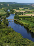 View of the Dordogne River  Bastide Town of Domme  Les Plus Beaux Villages De France  Dordogne  Fra