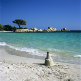 Sand Castle  Palombaggia Beach  Near Porto Vecchio  South East Corsica  Corsica  France  Mediterran