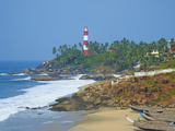 Vizhinjam  Fishing Harbour Near Kovalam and Kovalam Lighthouse  Kerala  India  Asia