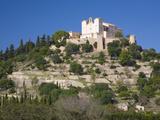 View to the Hilltop Sanctuary of Sant Salvador  Arta  Mallorca  Balearic Islands  Spain  Europe
