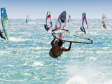 Windsurfer  Jump  Bolonia  Near Tarifa  Andalucia  Spain  Europe