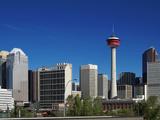 City Skyline and Calgary Tower  Calgary  Alberta  Canada  North America