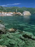 Clear Waters in Front of the Old Town  Budva  the Budva Riviera  Montenegro  Europe