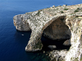 Blue Grotto Near Zurrieq  Malta  Mediterranean  Europe