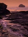Sunset  Trebarwith Strand  Cornwall  England  United Kingdom  Europe