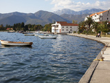 Waterfront Near the Newly Developed Marina in Porto Montenegro with Mountains Behind  Montenegro  E