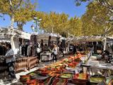 Market Stalls  St Tropez  Var  Provence  Cote D'Azur  France  Europe