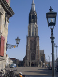 View of the Nieuwe Kerk (New Church) on the Market Square  Delft  Netherlands  Europe