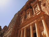 The Facade of the Treasury (Al Khazneh) Carved into the Red Rock at Petra  UNESCO World Heritage Si