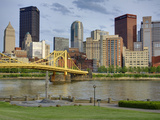 Andy Warhol Bridge (7th Street Bridge) and Allegheny River  Pittsburgh  Pennsylvania  United States