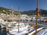 View across the Harbour  Port De Soller  Mallorca  Balearic Islands  Spain  Mediterranean  Europe