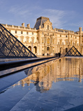 The Pyramid at the Louvre Museum  Paris  France  Europe