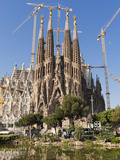La Sagrada Familia by Antoni Gaudi  UNESCO World Heritage Site  Barcelona  Catalonia  Spain  Europe