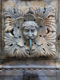 Detail of Onofro's Fountain  Stradun  Dalmatia  Croatia  Europe