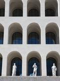 Palazzo Della Civilta Italiana  Eur  Rome  Lazio  Italy  Europe