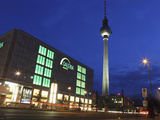 Galeria Kaufhof Department Store and the Television Tower (Berliner Fersehturm) at Alexanderplatz