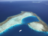 Aerial View of Coral Reef and Islands  Maldives  Indian Ocean  Asia