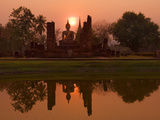 Wat Mahathat  Sukhothai Historical Park  UNESCO World Heritage Site  Sukhothai Province  Thailand  