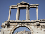 Arch of Hadrian and the Acropolis  Athens  Greece  Europe