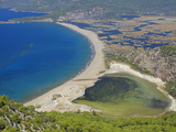 Aerial View of Dalyan  Dalaman  Anatolia  Turkey  Asia Minor  Eurasia