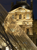Louvre Reflections in Glass Pyramid at Twilight  Rue De Rivoli  Paris  France  Europe
