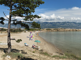 Beach on the Lopar Peninsula  Rab Island  Kvarner Gulf  Croatia  Adriatic  Europe