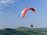 Paragliding Off Mam Tor  Derbyshire  Peak District  England  United Kingdom  Europe