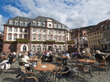 The Marktplatz (Market Square) and Town Hall  Old Town  Heidelberg  Baden-Wurttemberg  Germany  Eur