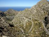 Serpentine Road to Sa Calobra  Mallorca  Balearic Islands  Spain  Mediterranean  Europe
