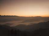 Himalayas at Sunrise  Near Ngarkot  Bagmati  Nepal  Asia