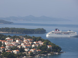 Cruise Ships Moored in Port of Gruz  Dalmatia  Croatia  Europe