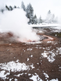 Fountain Paint Pot in Winter  Yellowstone National Park  UNESCO World Heritage Site  Wyoming  Unite