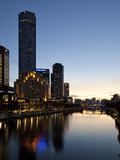 City Centre and Yarra River at Dusk  Melbourne  Victoria  Australia  Pacific