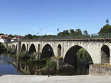 The Medieval Arched Stone Bridge across the River Lima at the Town of Ponte Da Barca  Minho  Portug