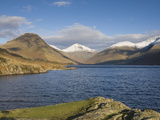 Wastwater with Yewbarrow  Great Gable  and Scafell Pike  Wasdale  Lake District National Park  Cumb