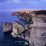The Falaise and Haute Ville at Dawn  Bonifacio  South Corsica  Corsica  France  Mediterranean  Euro