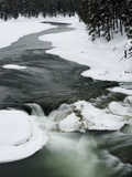 Snowy River and Winter Landscape  Yellowstone National Park  UNESCO World Heritage Site  Wyoming  U