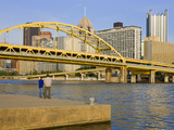 Fort Duquesne Bridge over the Allegheny River  Pittsburgh  Pennsylvania  United States of America