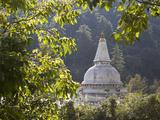 Chendebji Chorten Between Wangdue Phodrang and Trongsa  Bhutan  Asia