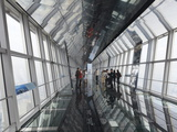 The Observation Bridge with Glass Floor on the 94th Floor of the Shanghai World Financial Center (S