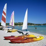Watersports on Beach  Plage De Santa Giulia  Southeast Coast  Corsica  France  Mediterranean  Europ
