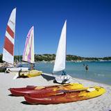 Watersports on Beach  Plage De Santa Giulia  Southeast Coast  Corsica  France  Mediterranean  Europ