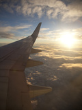 View from Window of Boeing 737-800 En Route from Australia to New Zealand at Sunset  Australia  Pac
