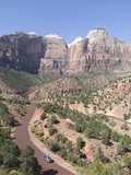 View from the Zion to Mount Carmel Highway  Zion National Park  Utah  United States of America  Nor